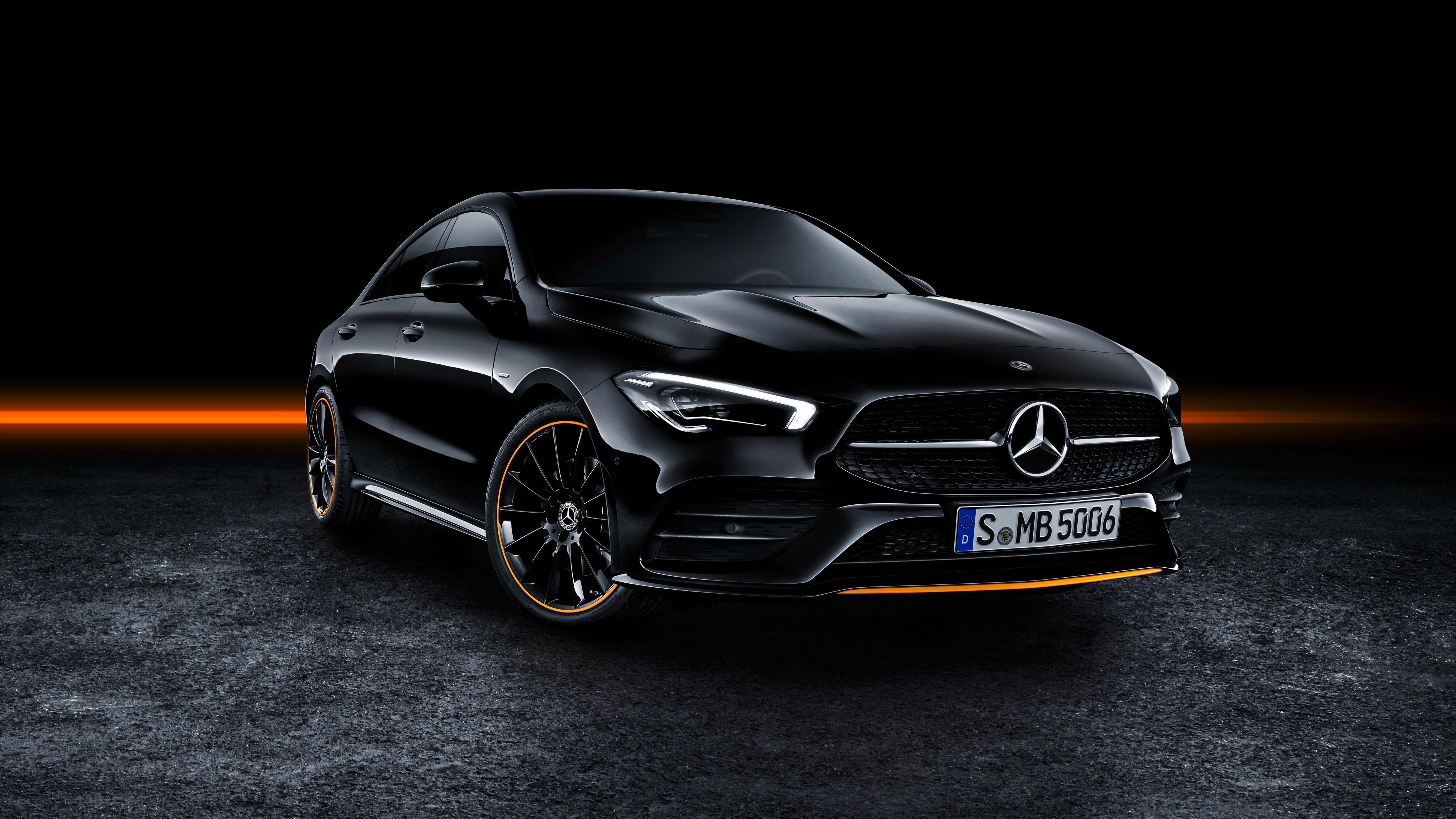 Mercedes Benz CLA 250 AMG Line Edition Orange Art 2019 4K 4096x2304