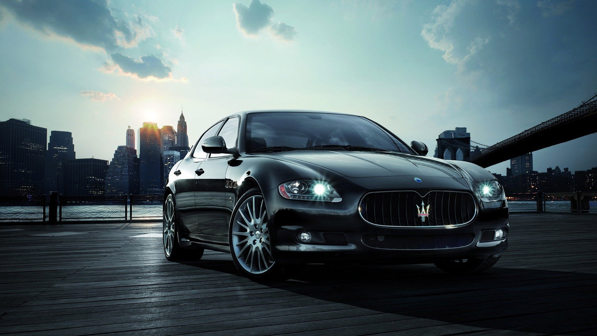 Car wallpaper Maserati Quattroporte Car Humor 1920x1080