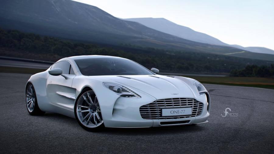 White Aston Martin ONE 77 4K Wallpapers 900x506