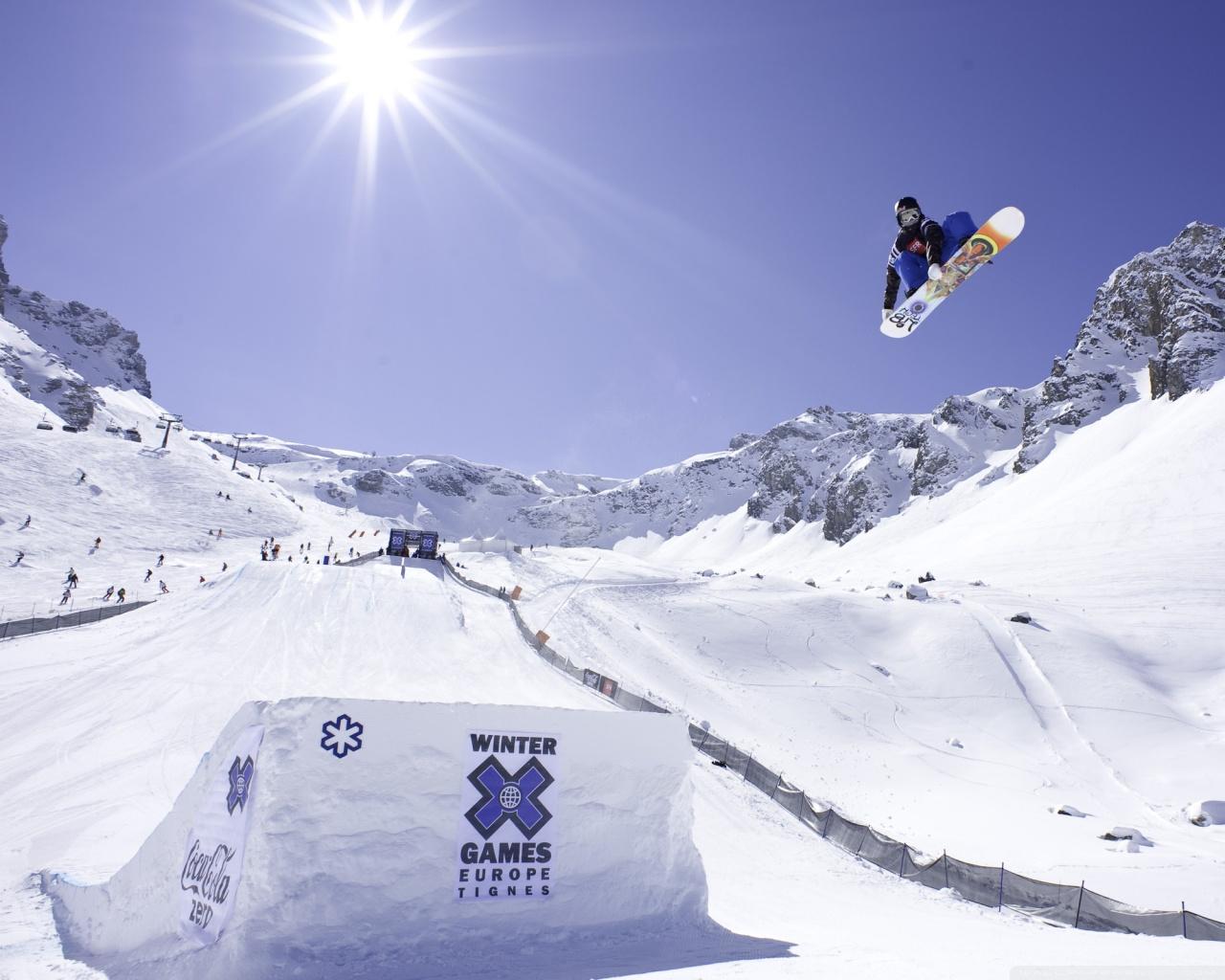 Winter Games Europe Tignes 4K HD Desktop Wallpaper for 4K Ultra 1280x1024