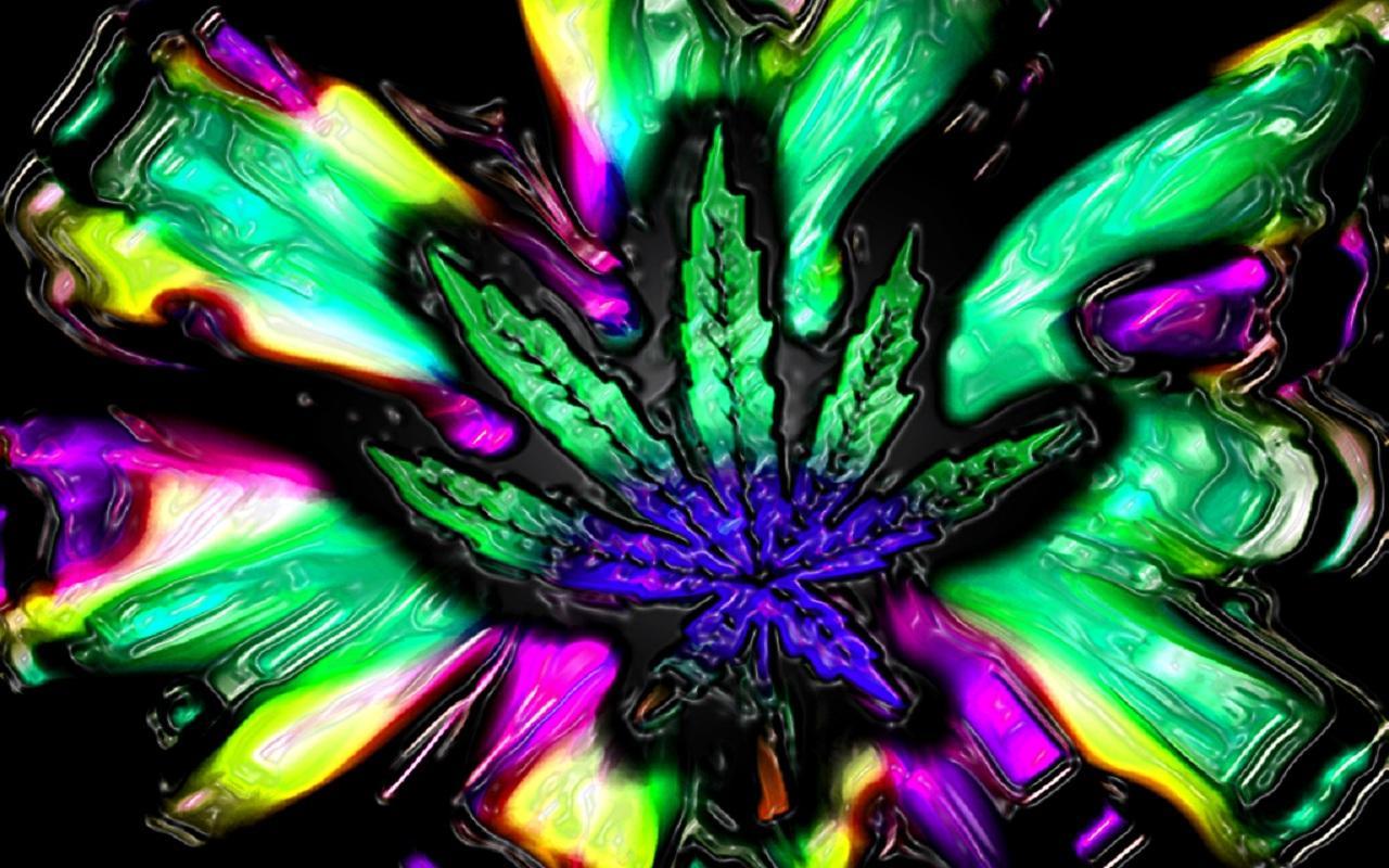 3D Trippy Weed Live Wallpaper 3 screenshot 3 1280x800