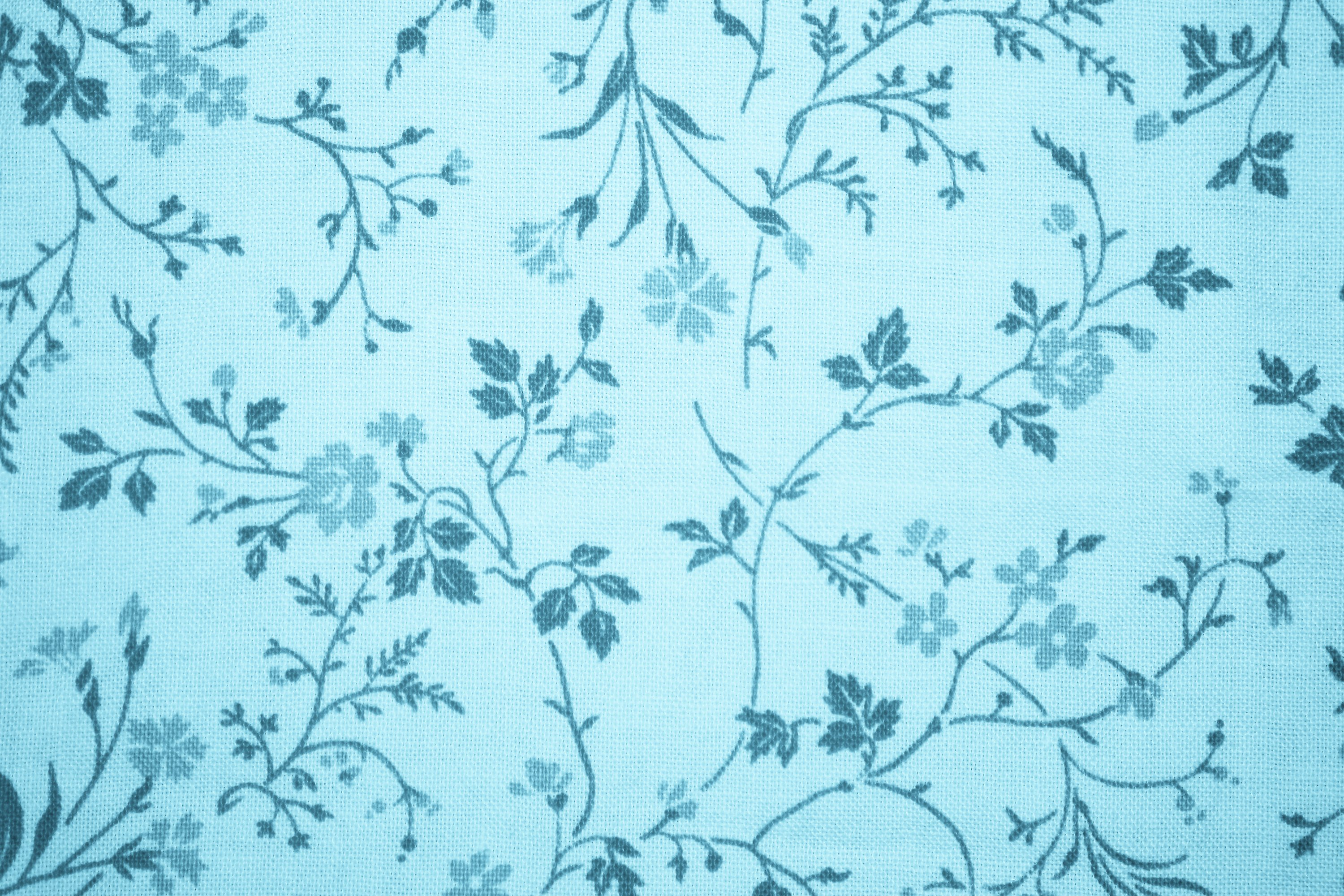 38 Light Blue Floral Wallpaper On Wallpapersafari