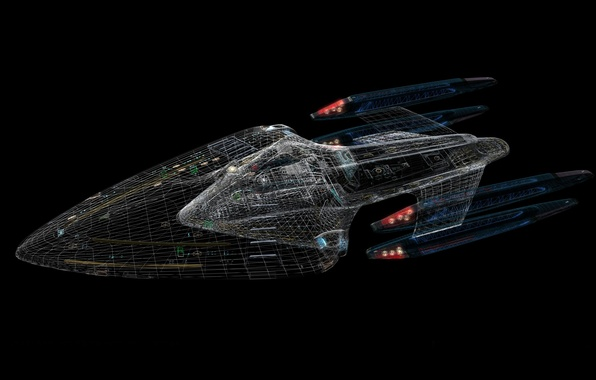 Wallpaper Autocad The Enterprise Star Trek images for 596x380