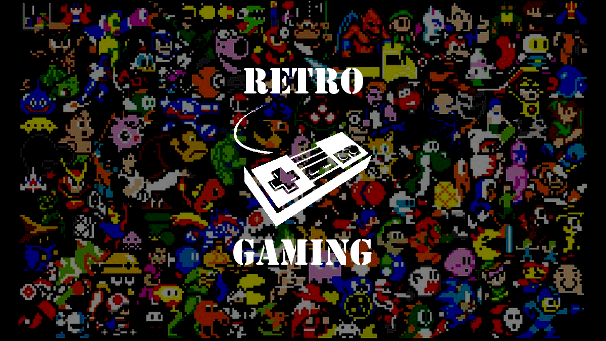 A Fancy Retro Gaming Wallpaper   Game Ov 1124501   PNG Images   PNGio 1200x675