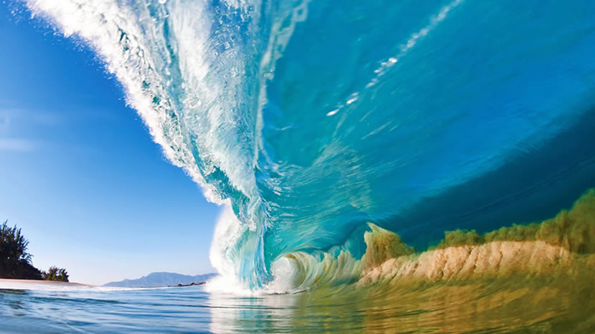 Ocean Wave Photography Clark Little Clark littles shorebreak 2048x1152