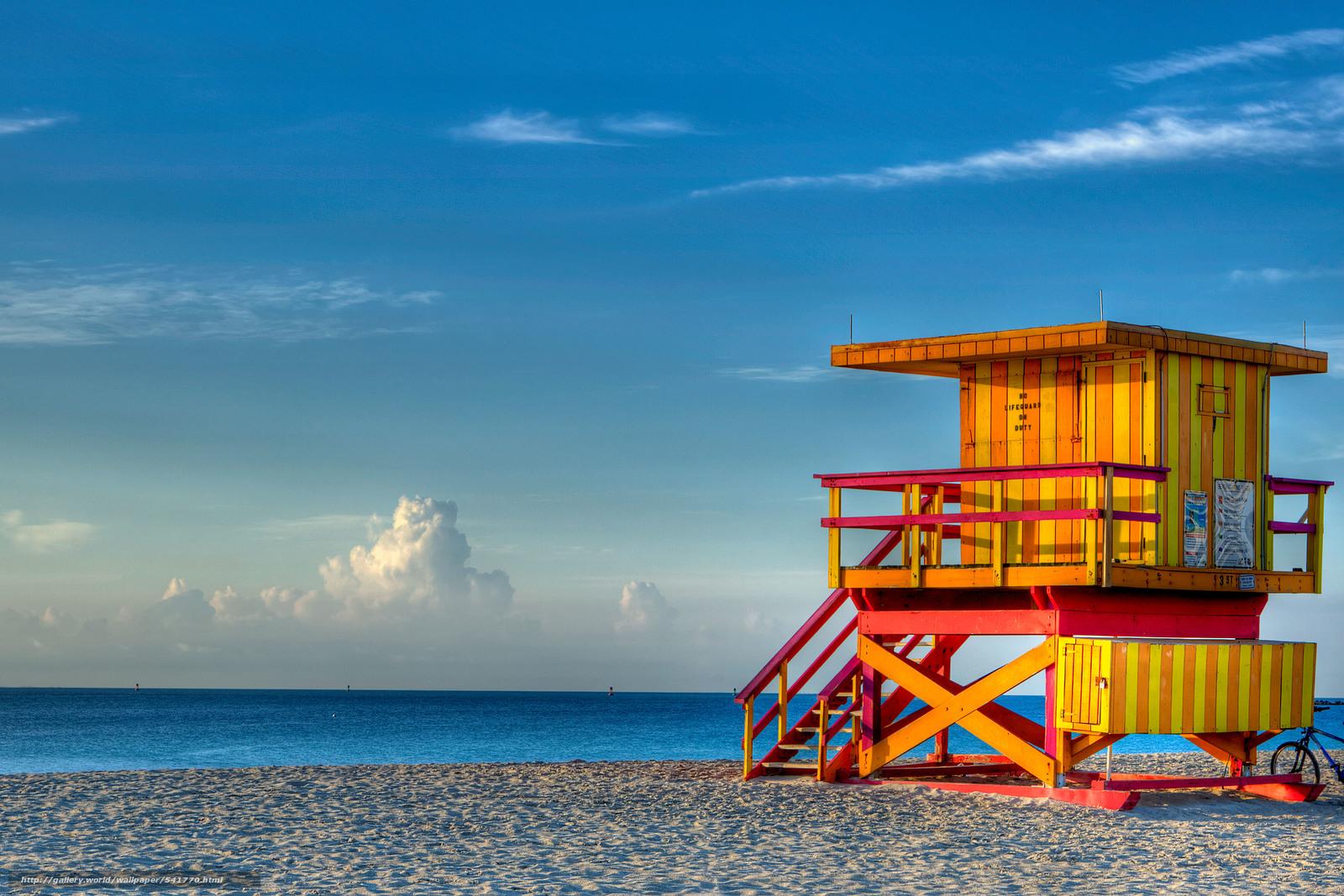 Tlcharger Fond decran South Beach Miami augmenter mer Fonds d 1600x1067