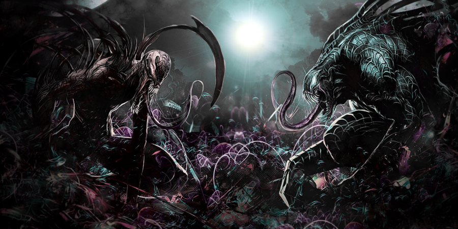 Carnage vs Venom No C4D by Awakening Scarlet 900x450