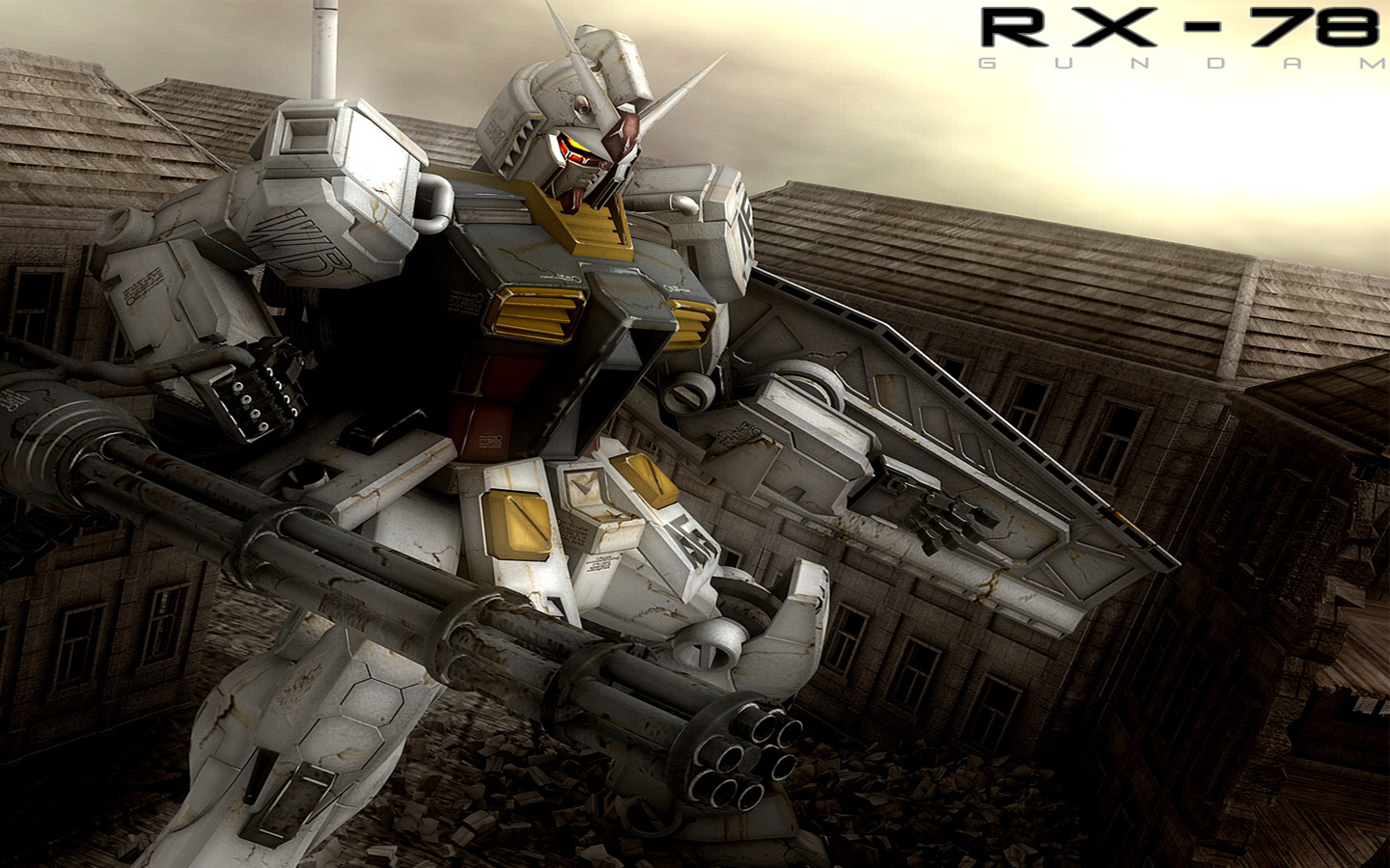 download the gundam anime wallpaper titled gundam rx 78 1440x900