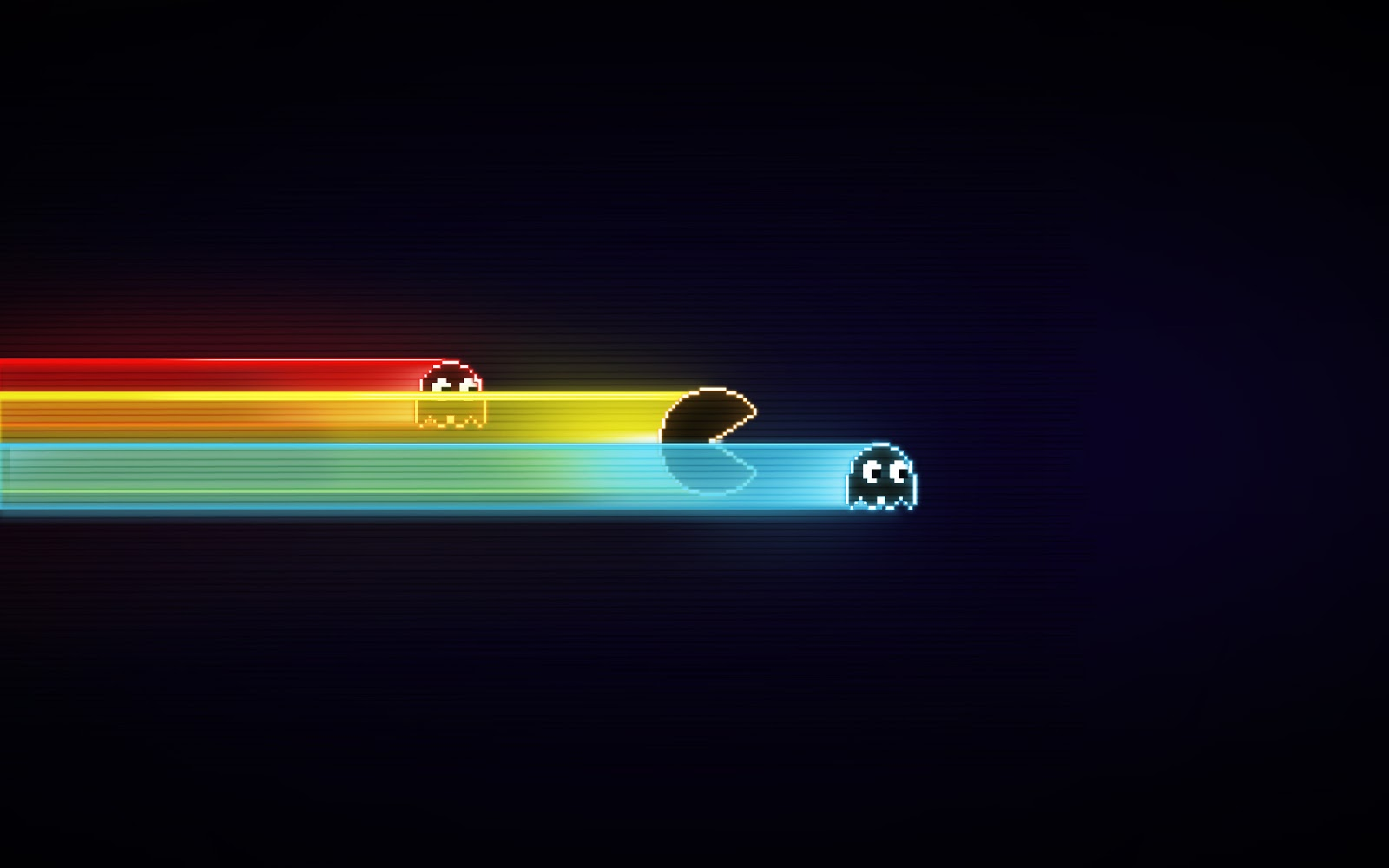 Nice and simple colourful pacman desktop wallpaper 1600x1000