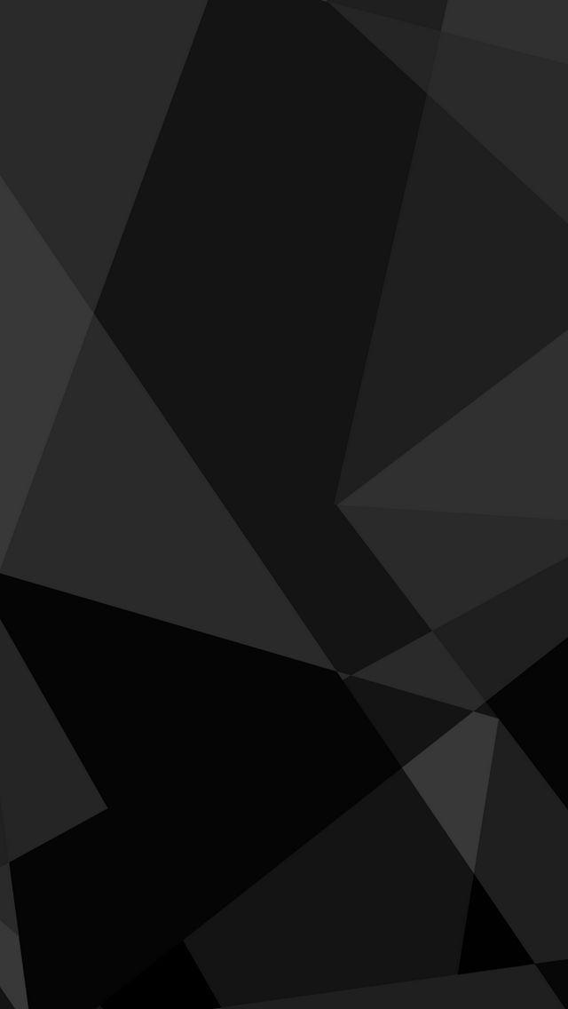 Black Abstract Shapes Wallpaper   iPhone Wallpapers 640x1136