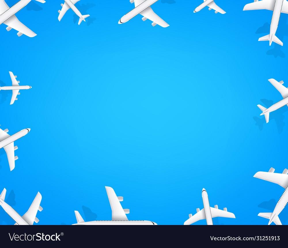 Travel wallpaper social media message background Vector Image 1000x862