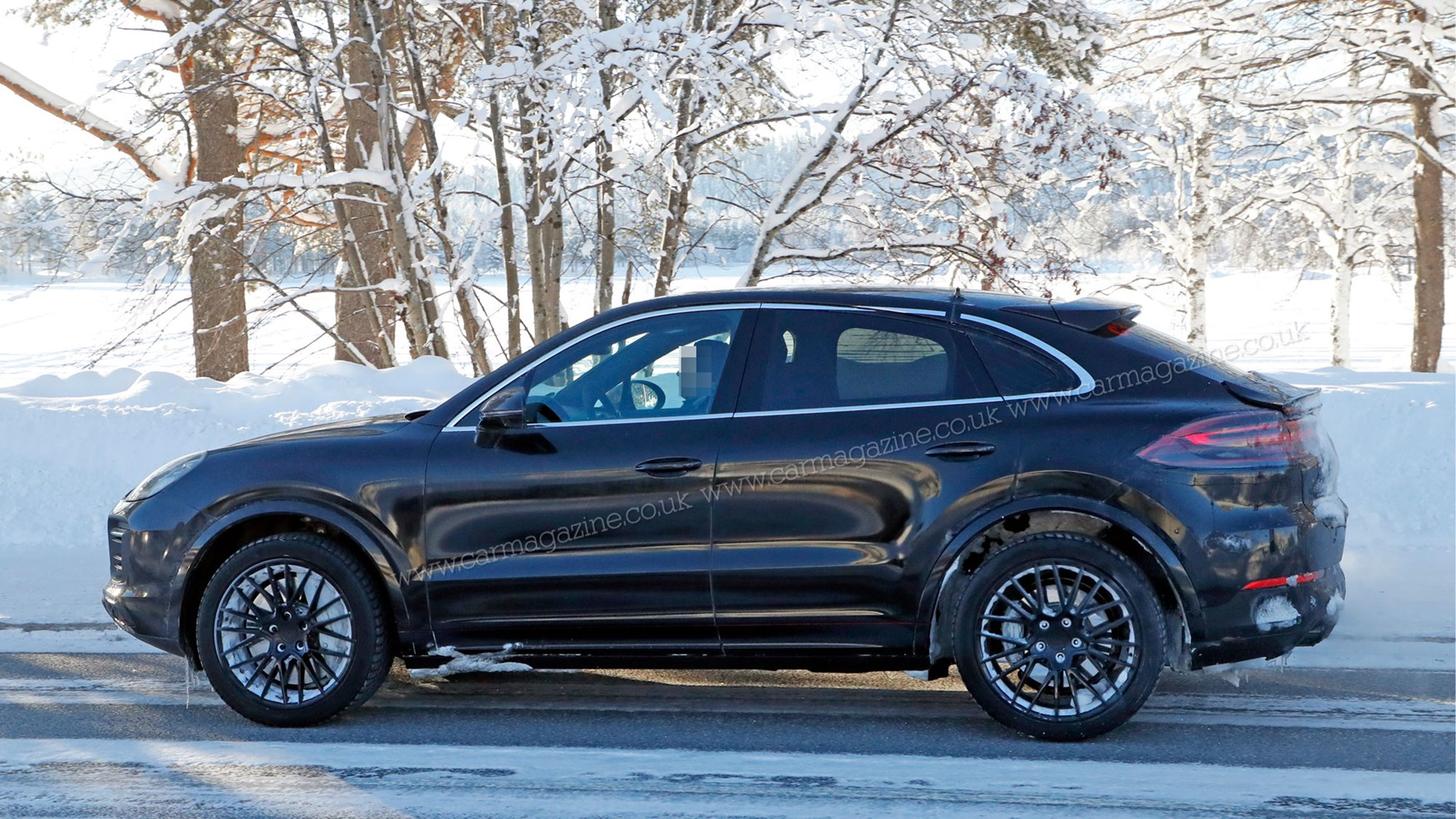 Porsche Cayenne Coupe sporty SUV spotted winter testing CAR 1752x986