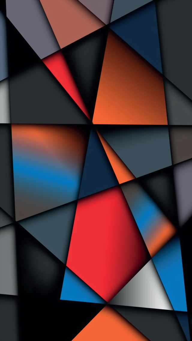 Colorful Geometry The Iphone Wallpapers 640x1136