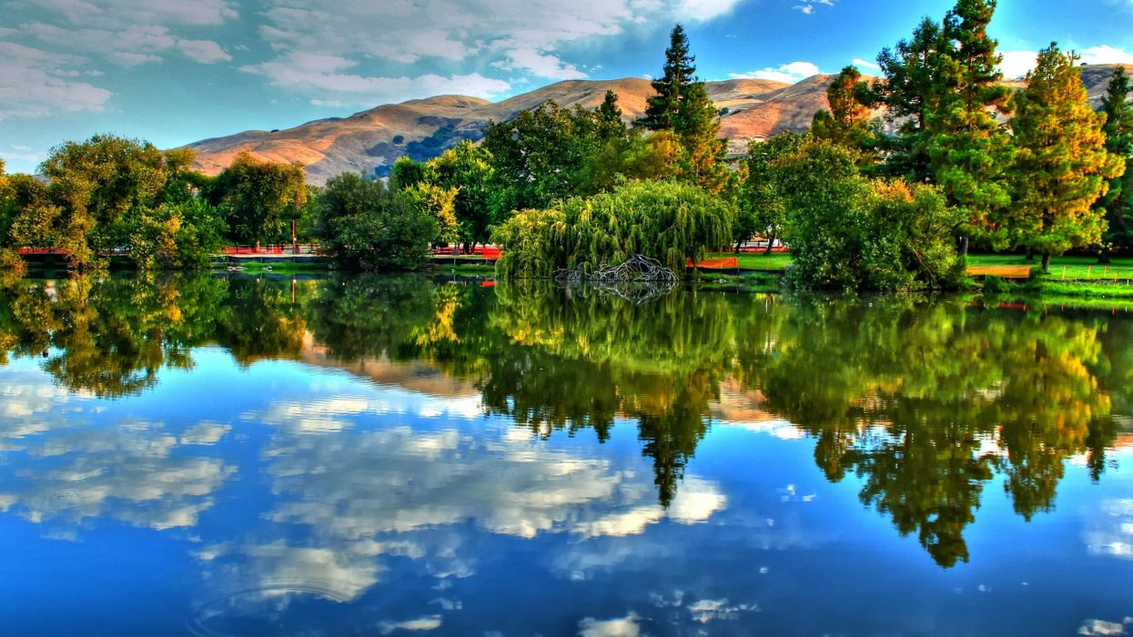 Paisaje lago reflejos naturaleza wallpaper 2560x1440 691692 1245x700