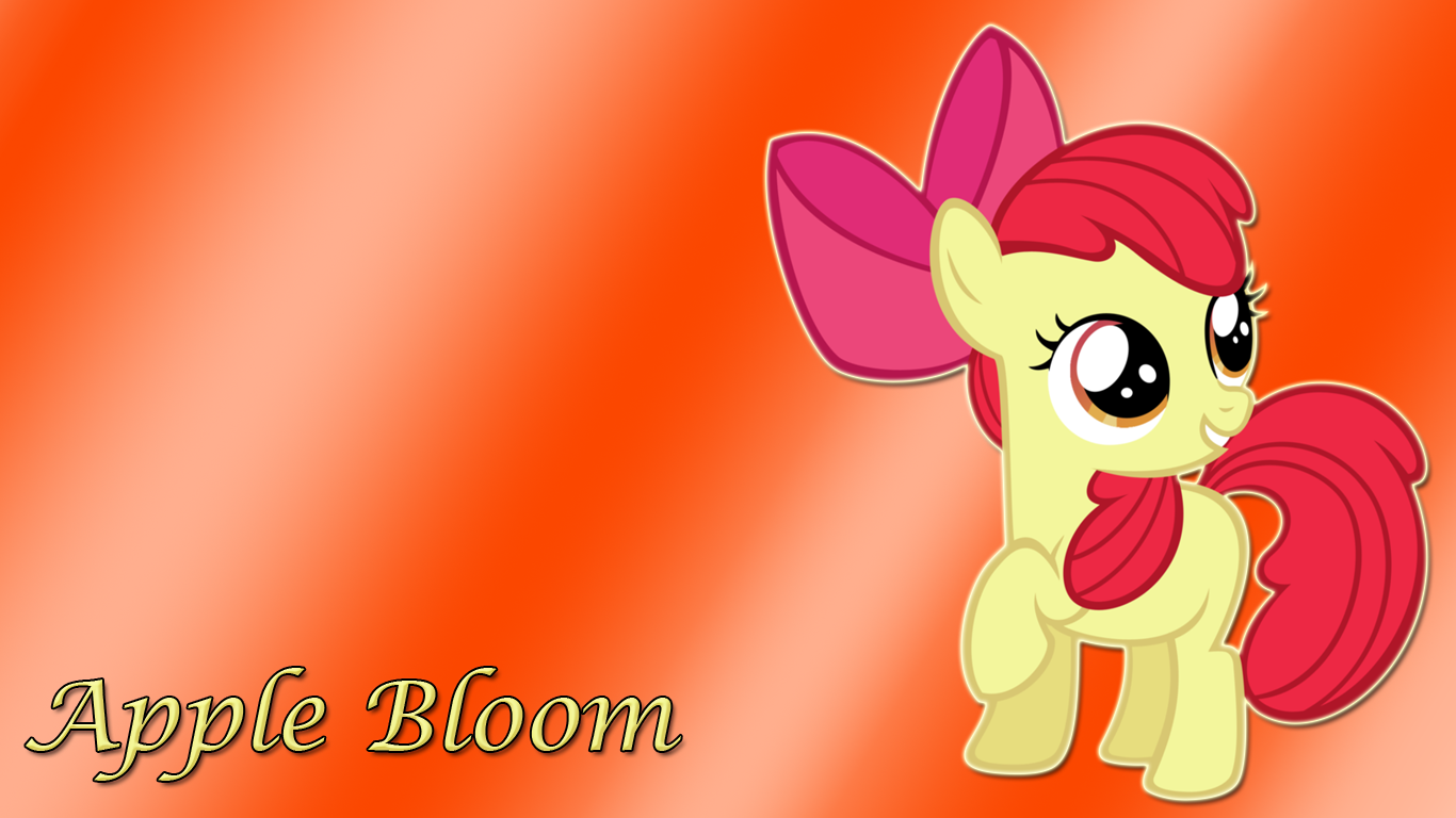 Apple Bloom Wallpaper by TzortzinaErk on deviantART 1366x768