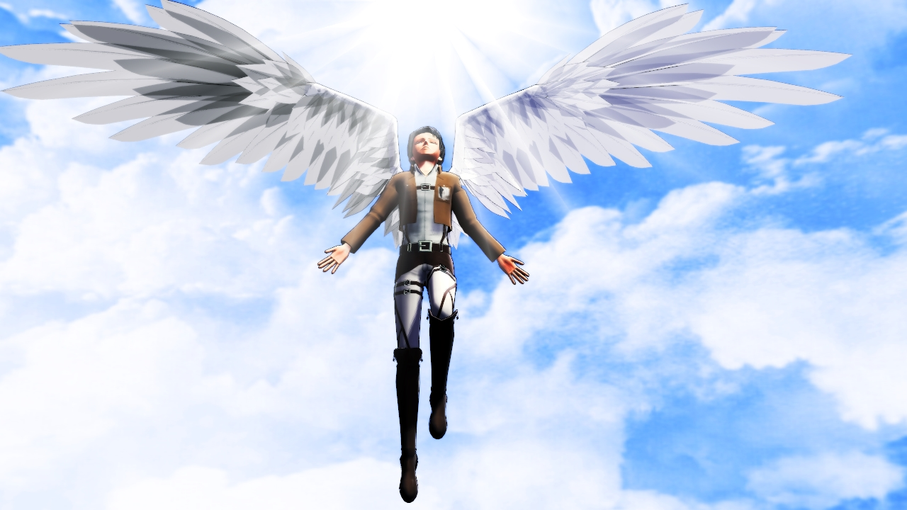 Wings Of Freedom   Levi Rivaille by Chii Chan666 1280x720