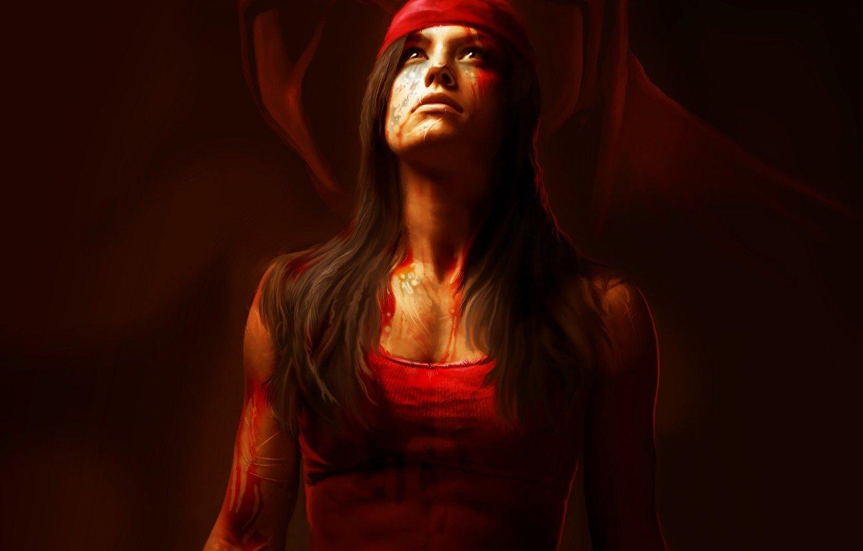 Wallpaper girl art killer Marvel Comics Elektra Elektra 1332x850