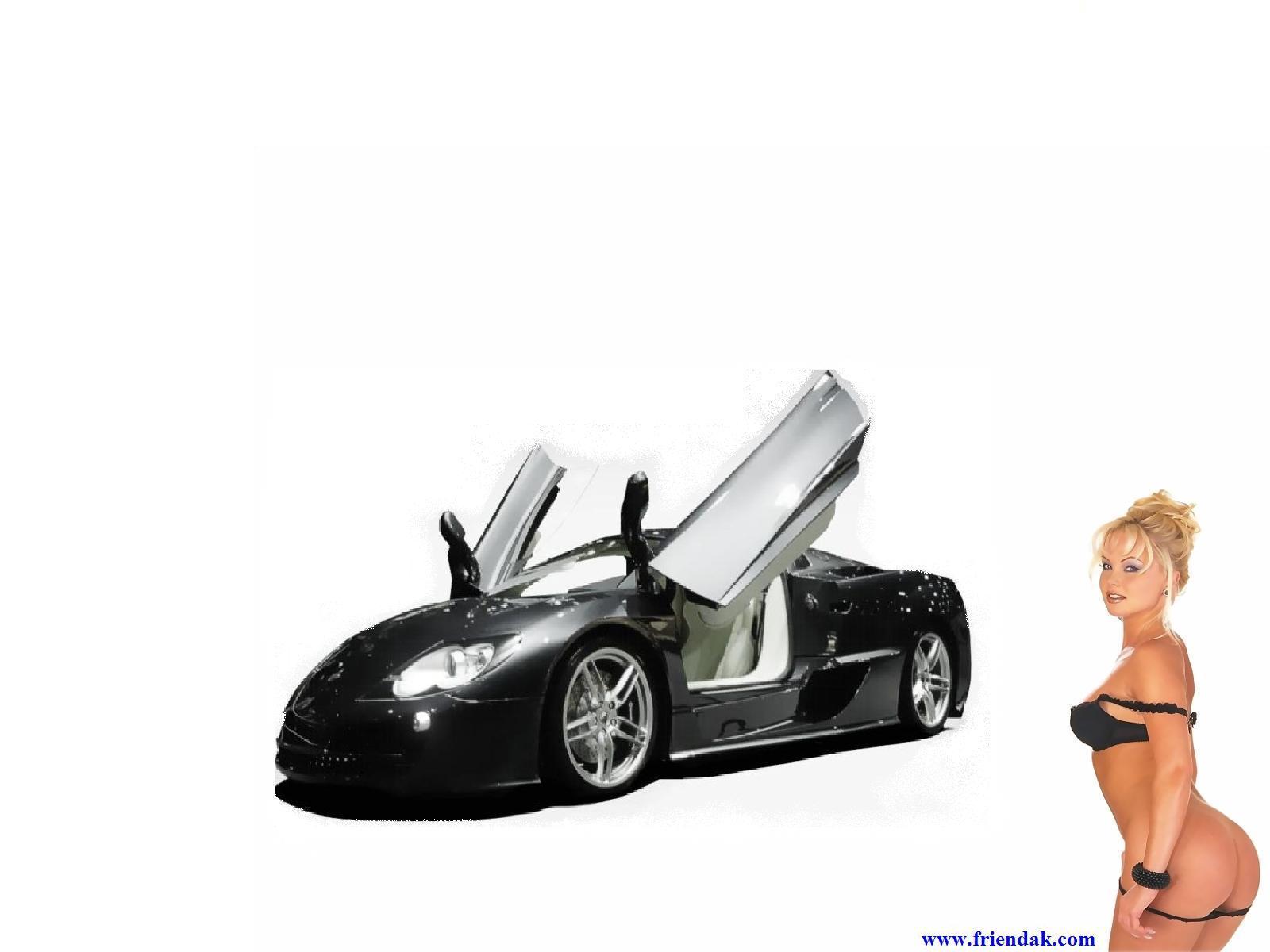 Desktop wallpaper downloads concept car and girl high resolution 1600x1200