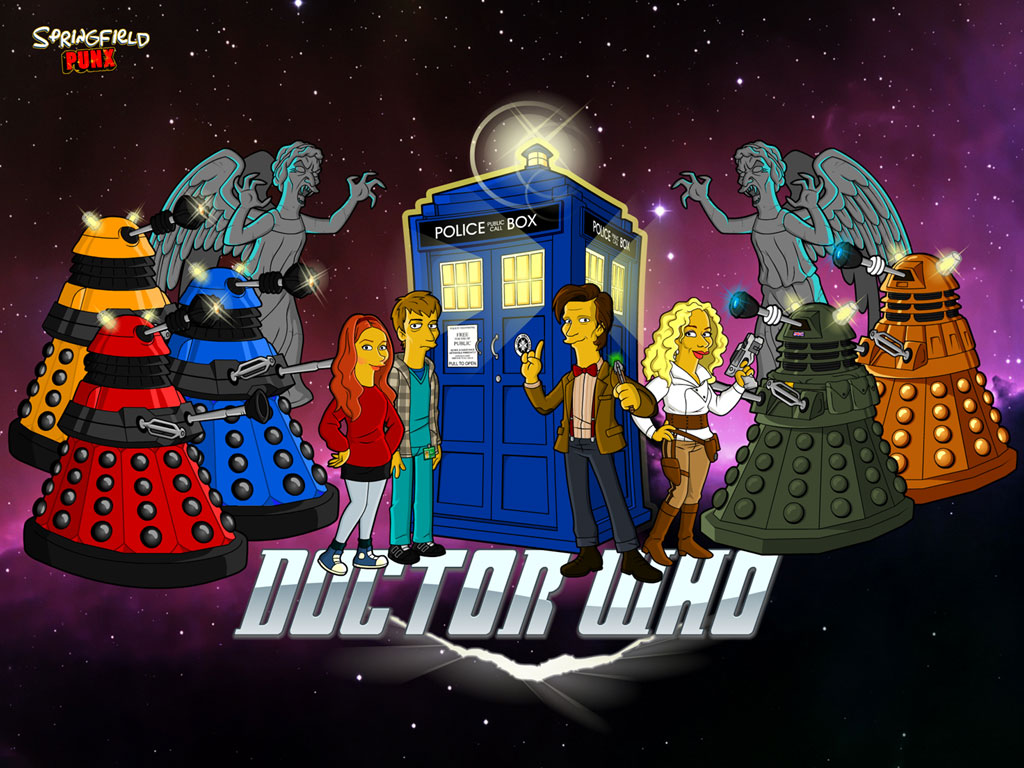 Grains de cesames Dr Who simpsonized 1024x768