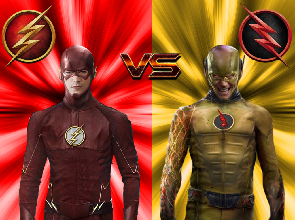 the flash vs  the reverse flash  by camo flauge d8fh29x 1024x764