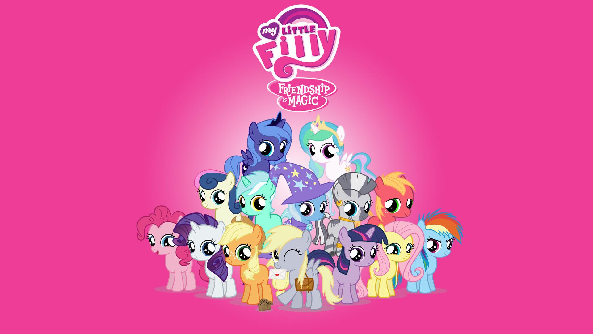 Free Download My Little Pony Cartoon Pink Wallpaper Hd Wallpaper