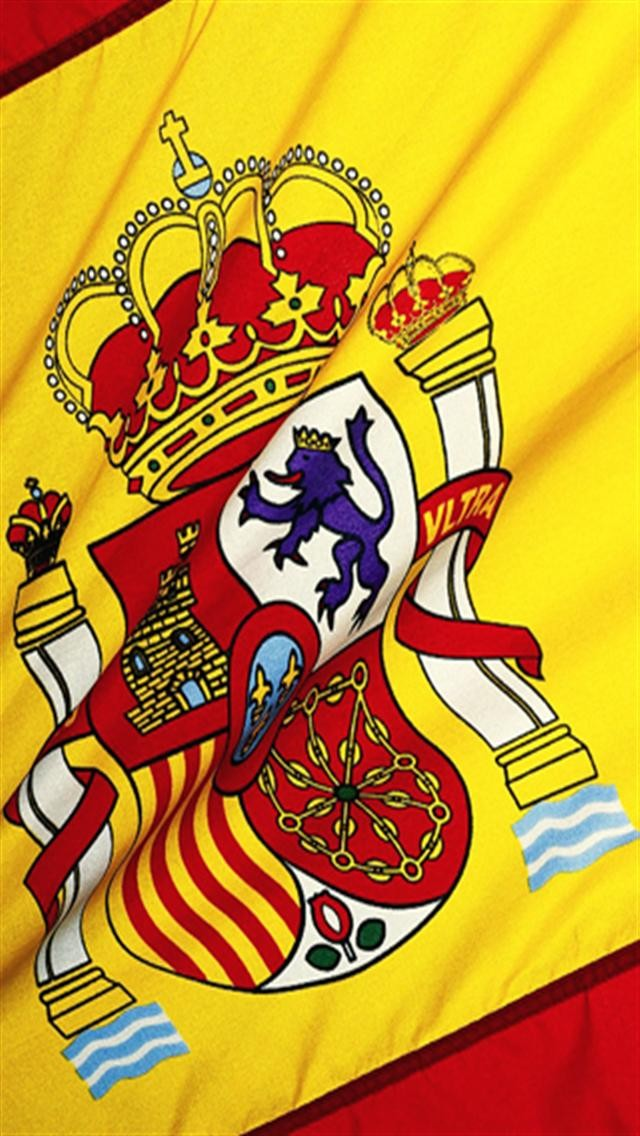 Spain National Football Team 3 LOGO iPhone Wallpapers 640x1136