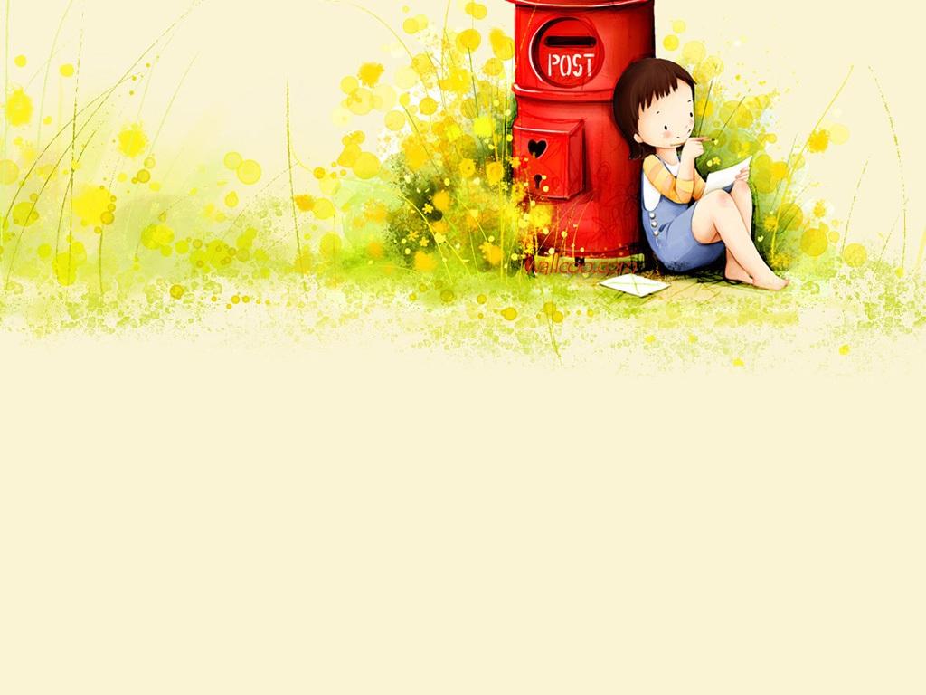 Cute cartoon wallpapers for girls wallpapersafari - Cartoon girl wallpaper ...