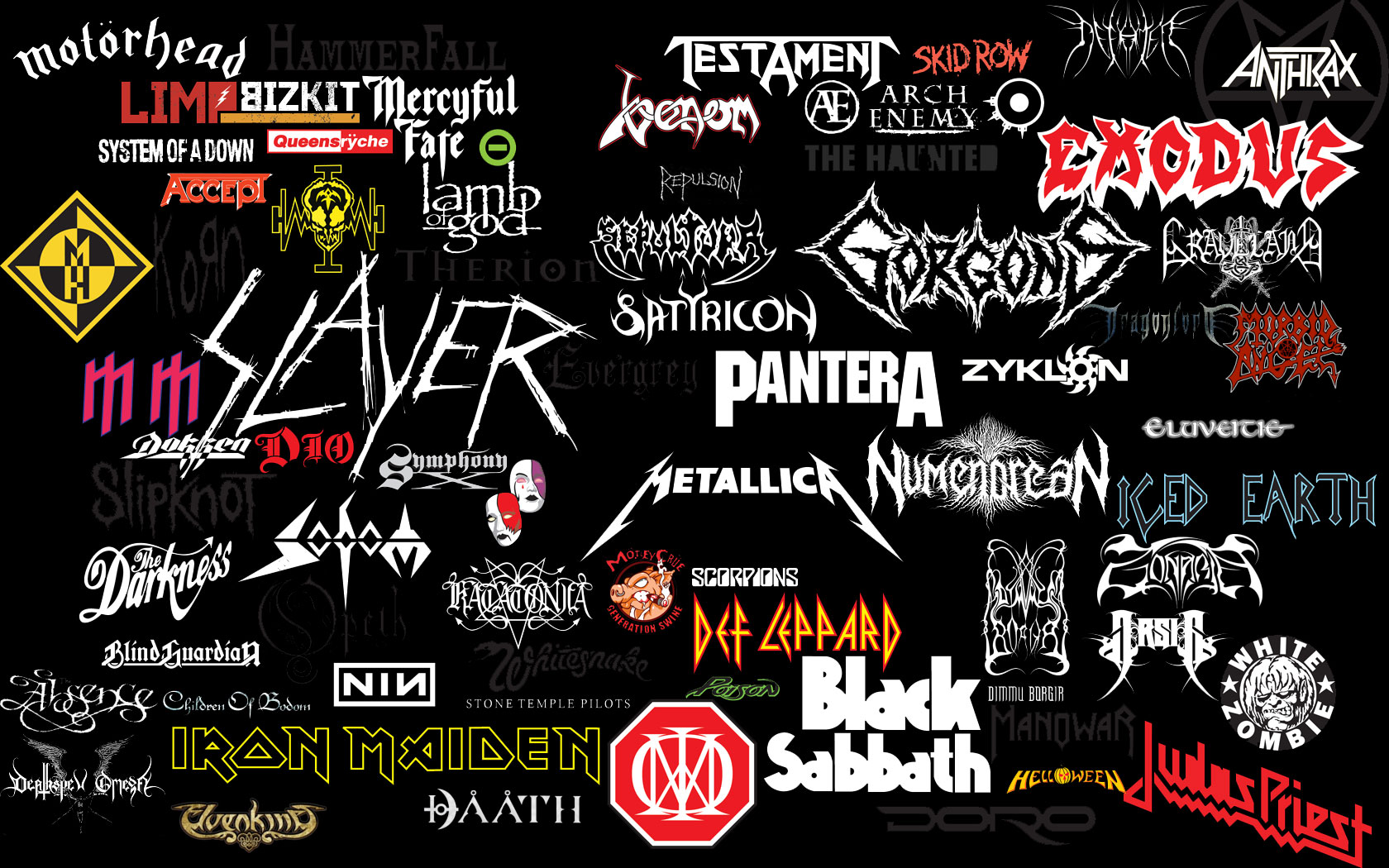 Music   Heavy Metal Collage Band Bands Wallpaper 1680x1050