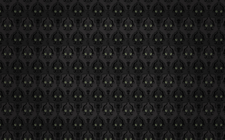 Gothic Background Pattern Dark Skull Eyes 2880x1800