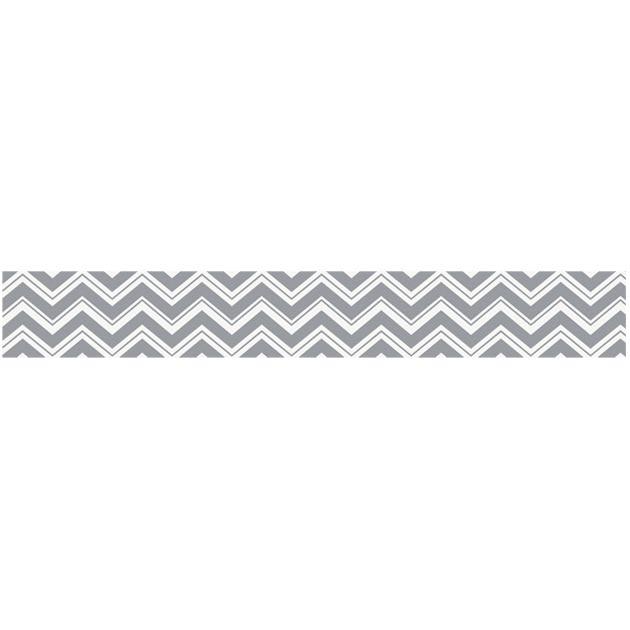 Zig Zag Black and Gray Wallpaper Border by Sweet Jojo Designs 630x630