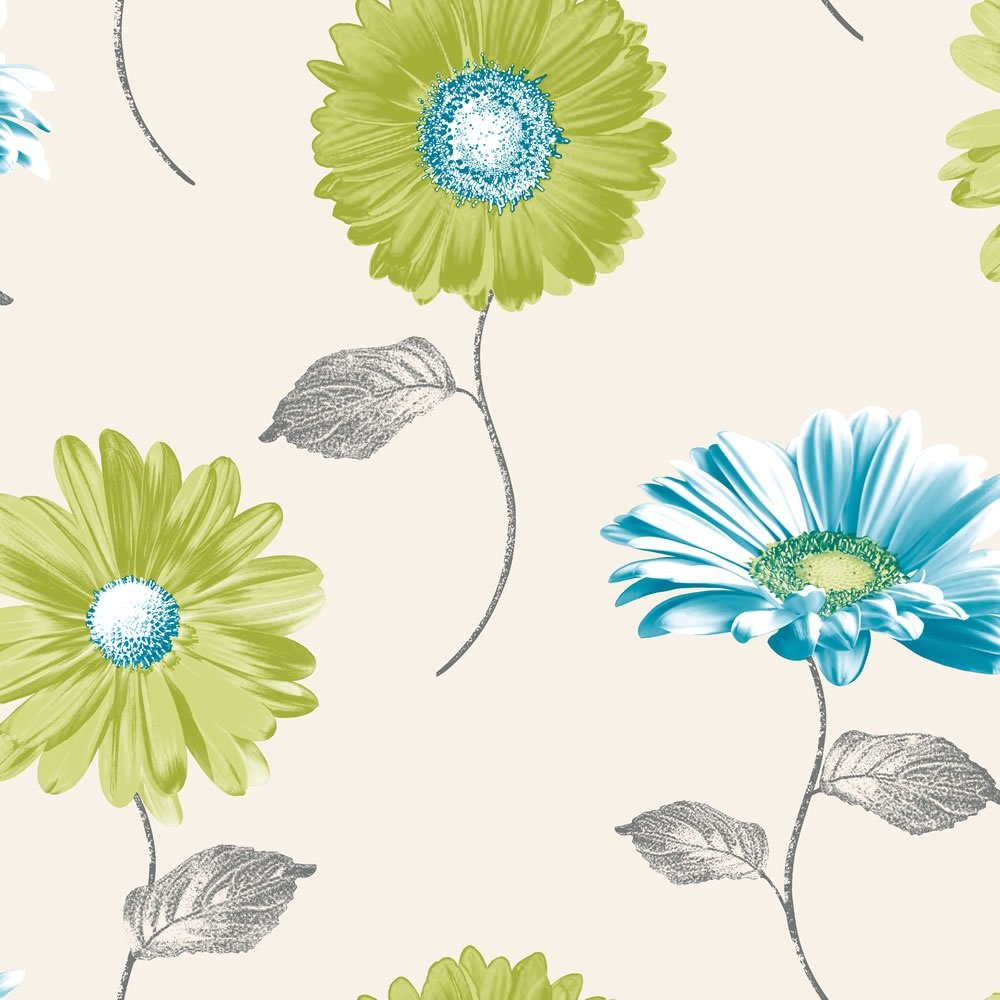 Home Wallpaper Muriva Muriva Daisy Floral Wallpaper 111503 1000x1000