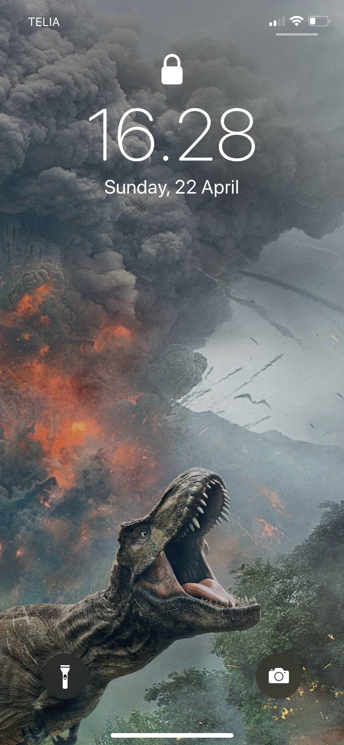My new background Excited for JWFK JurassicPark 1125x2436