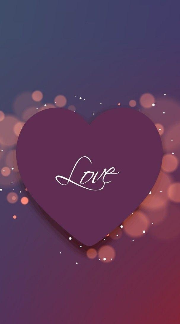 Love heart wallpaper background in 2019 Love wallpaper Heart 607x1094