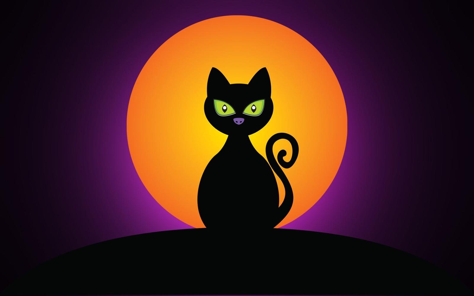 Black cat halloween wallpaper wallpapersafari - Dibujos de halloween ...