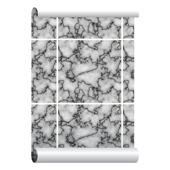 Self adhesive Removable Wallpaper Marble Tiles Wallpaper Peel and 570x570