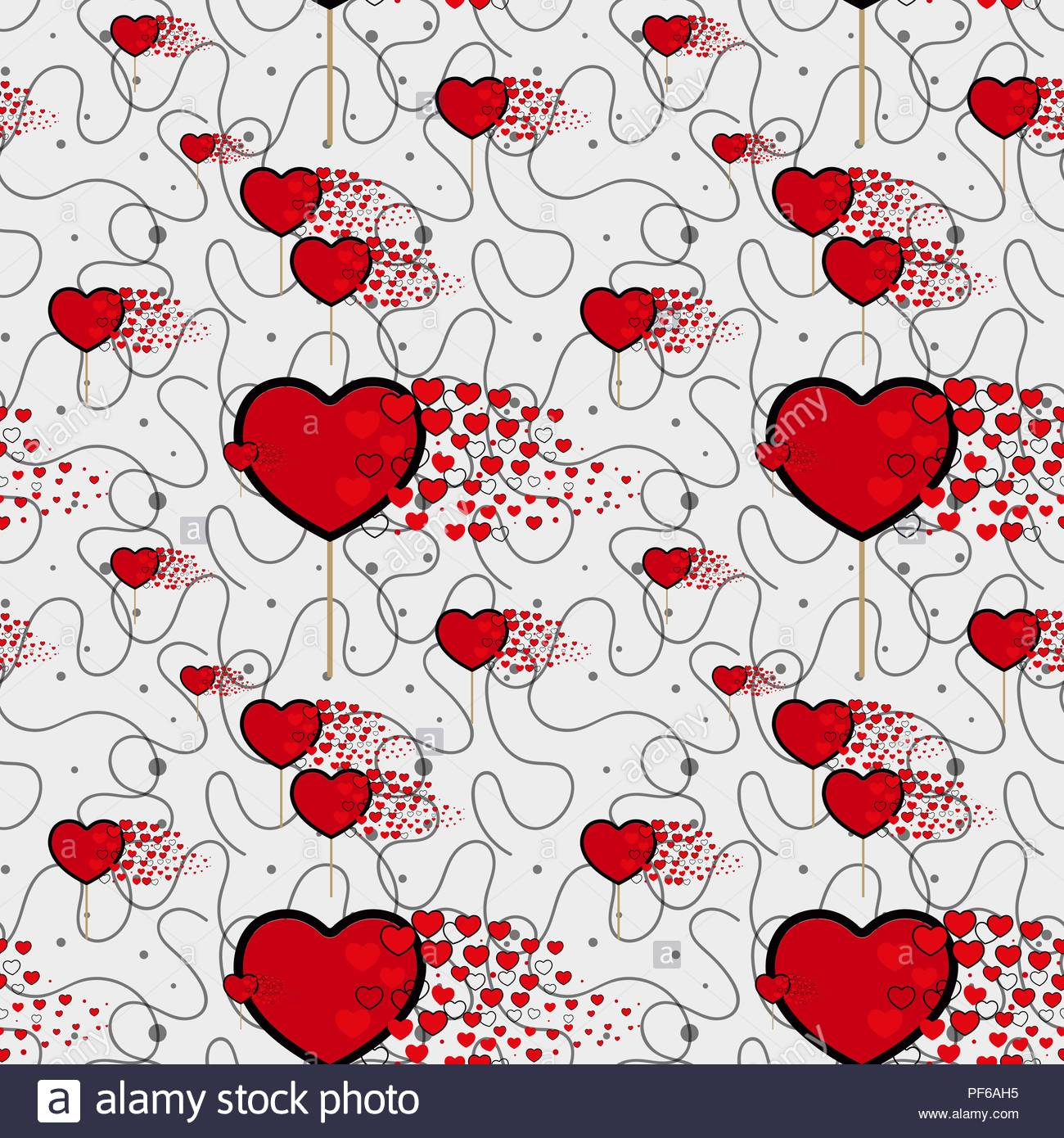 candy hearts and line pattern vector Seamless vector pattern with 1300x1390