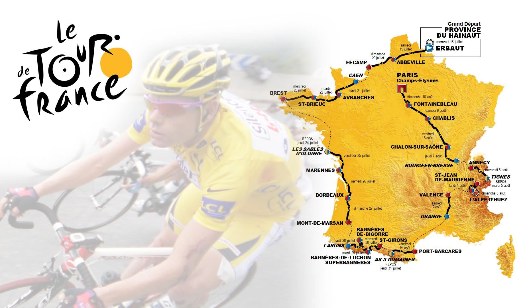 Tour de France 2014 Map Background wallpaper Tour de France 2014 Map 1849x1080