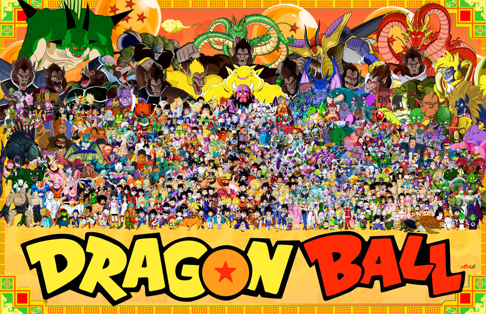All Dragon Ball Z Characters Best Wallpaper Coloring Page Online 1600x1035