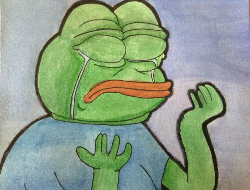 Pepe the Sad Frog But With The Wrong Colors by ghostdime 960x731