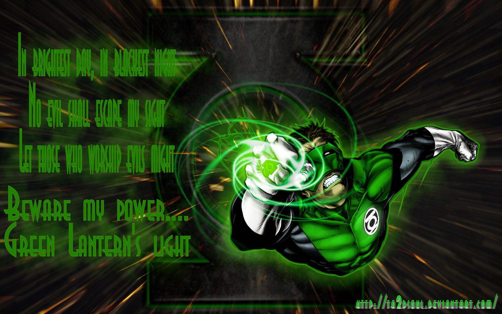 Green Lantern Wallpaper by Ta2dsoul 1600x1000