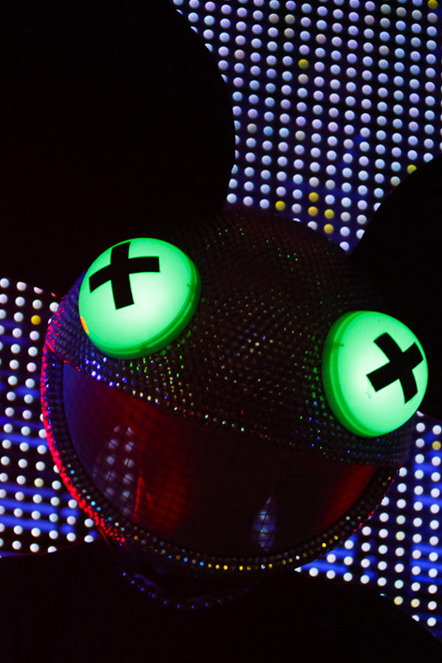 Download for iPhone music wallpaper Deadmau5 640x960