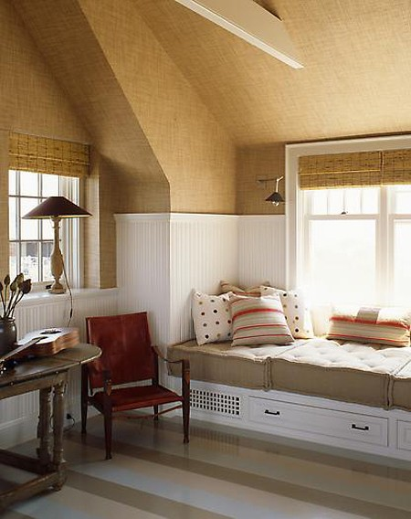 Contemporary Grasscloth Bedroom House Interior Design Ideas 450x568