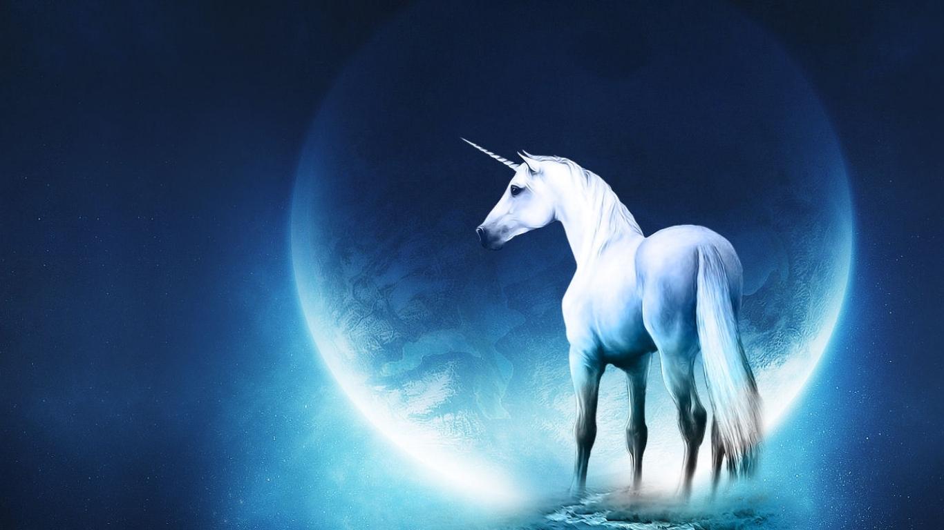 Just Walls Unicorn Wallpaper 1366x768