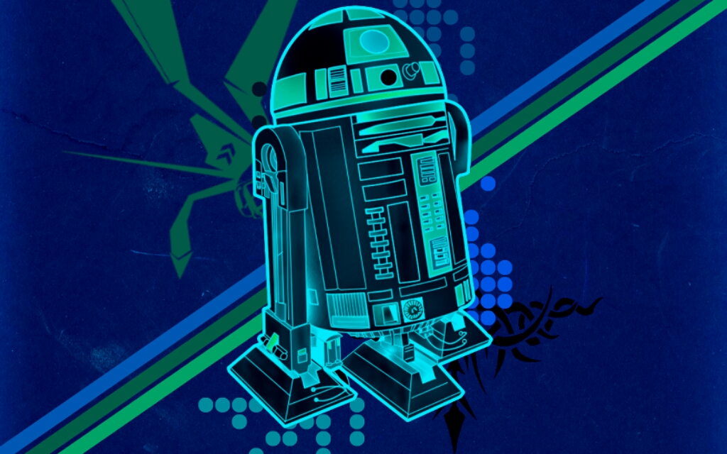 R2d2 Wallpaper Blue Green Wallpapers 1024x640