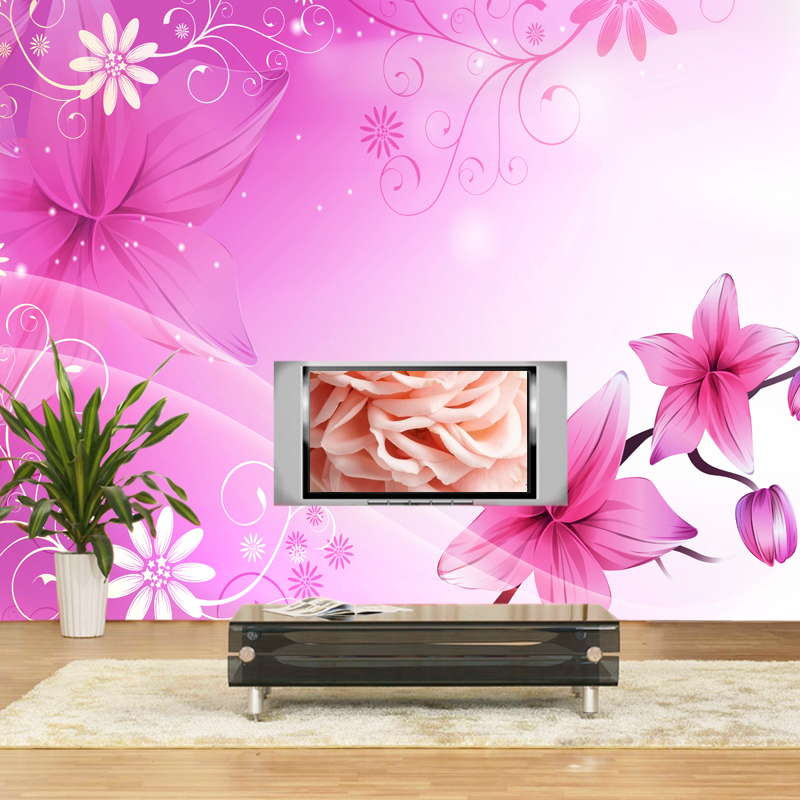 wallpaper tv background wall wallpaper rustic mural flower wallpaper 800x800