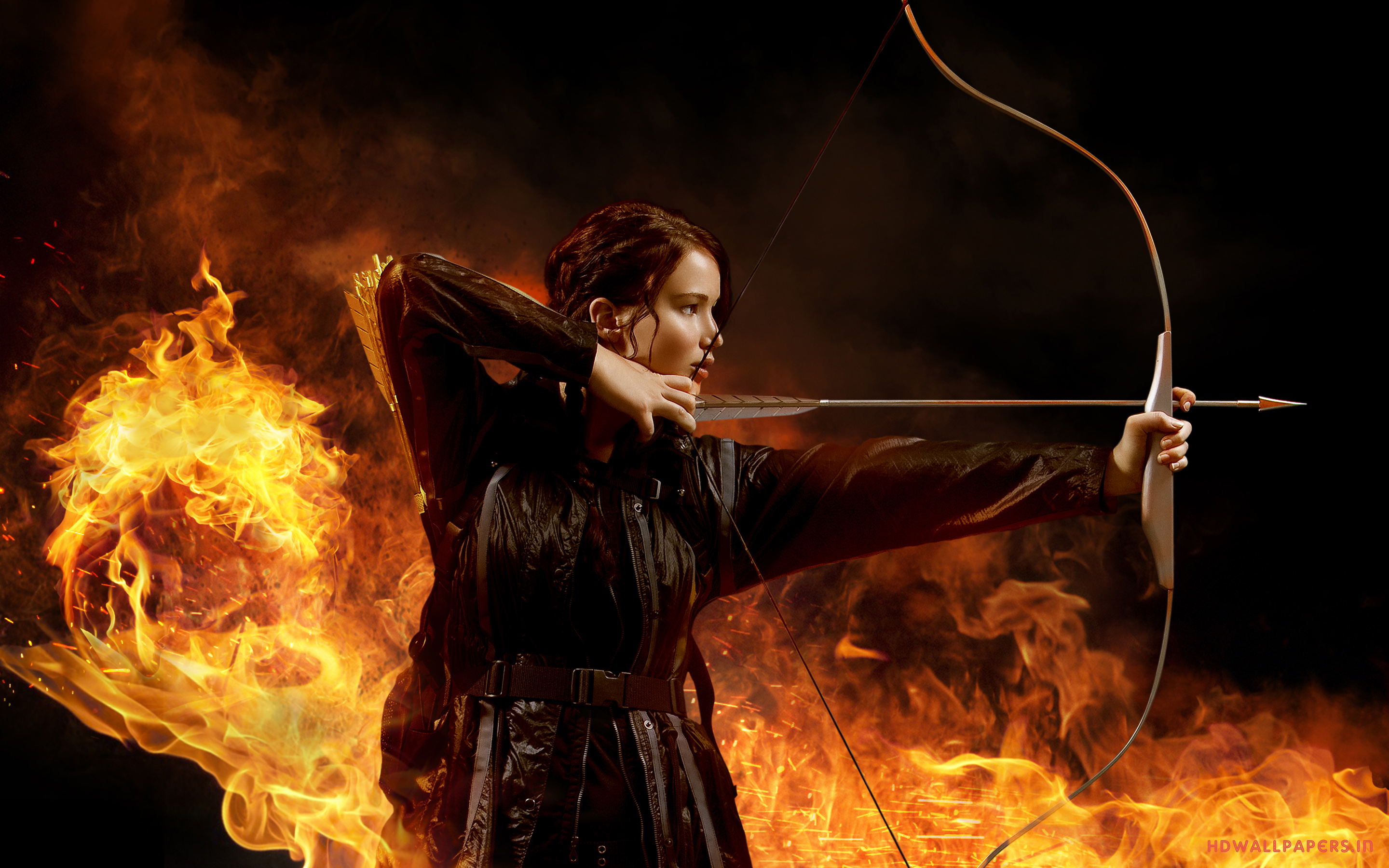 Jennifer Lawrence in The Hunger Games Wallpapers HD Wallpapers 2880x1800
