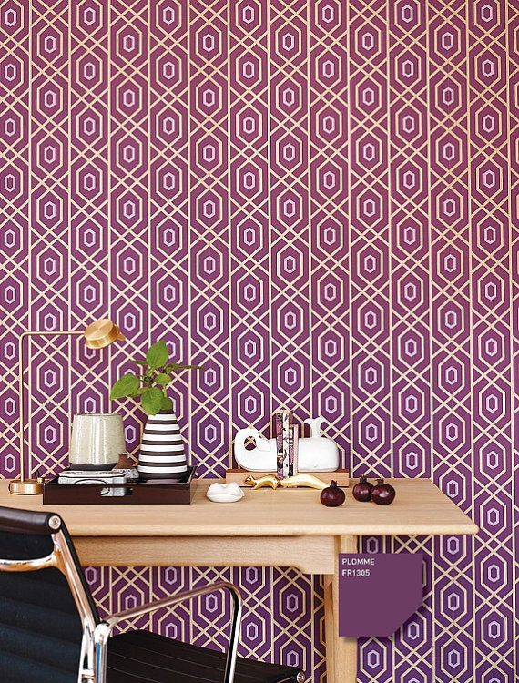 Geometric Pattern Self Adhesive Vinyl Wallpaper Home Design Ideas 570x750