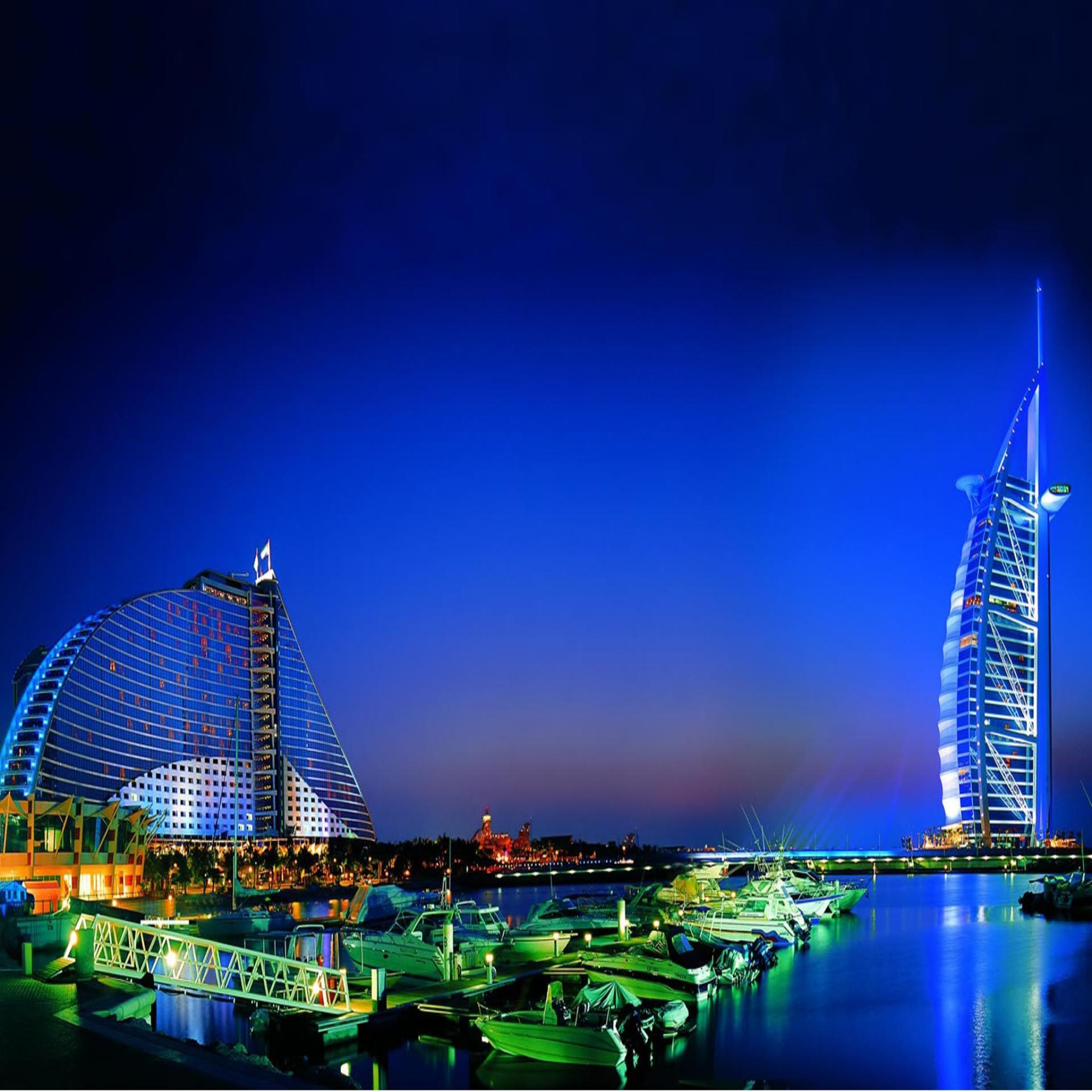 Dubai Nightlife Desktop 2048x2048 Wallpapers HD Wallpapers 2048x2048