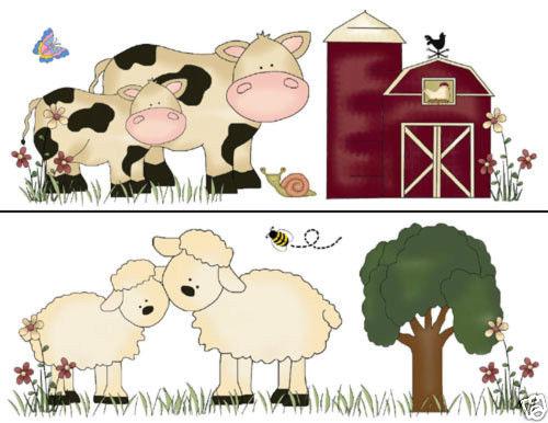 Barnyard Wallpaper Border Wall Decals Baby Nursery Kids Room Farm 500x386