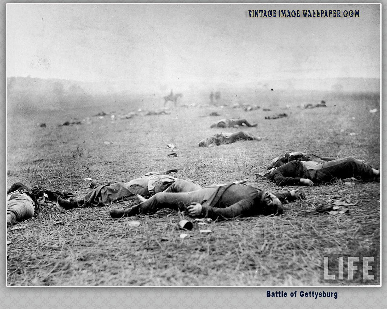 Battle of Gettysburg 01 Desktop Wallpaper in Vintage 1280x1024
